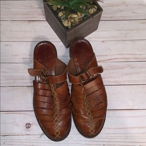 Cole Haan Country Mule Shoes Brown Leather Size 7